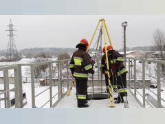 На базі багатофункціонального тренажеру для практичної підготовки рятувальників Університету розпочались практичні заняття